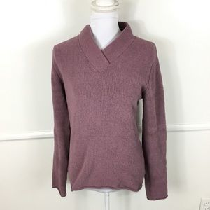Parma Purple Fuzzy Pullover Sweater Womens Large